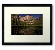 Yosemite Falls Night Reflections Framed Print