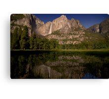 Yosemite Falls Night Reflections Canvas Print