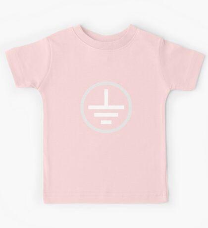 Earth Symbol (white) Kids Tee