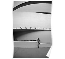 Girl In Guggenheim NYC Poster