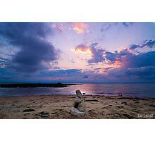 Totem sur la plage Photographic Print