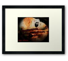 Happy Halloween Greeting Card #2 (using the face of a doll) Framed Print