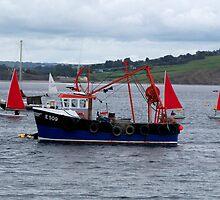 Fishing Boat and Sailing Boats  by hootonles