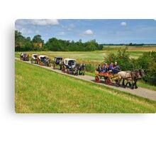 A ride through the farmlands Canvas Print