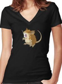 Raticate Women's Fitted V-Neck T-Shirt