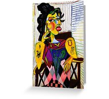 Painted Face Greeting Card