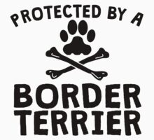 Protected By A Border Terrier Kids Clothes