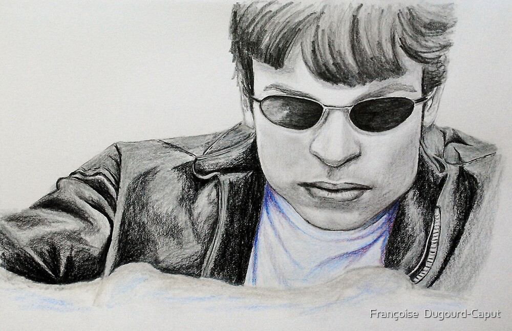 Portraits of Tom Welling, Clark Kent of Smallville, featured in Graphite Pencils Artists by Françoise  Dugourd-Caput