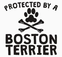 Protected By A Boston Terrier Kids Clothes