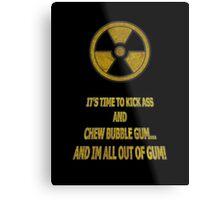 Duke Nukem - Chew Bubble Gum Metal Print