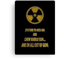 Duke Nukem - Chew Bubble Gum Canvas Print