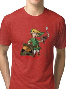 The Real Man in Green Tri-blend T-Shirt
