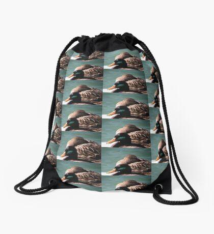 Duck Edicate Drawstring Bag