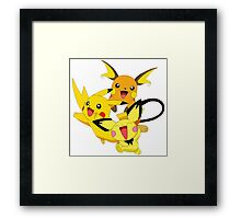 pikachu pokemon Framed Print