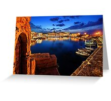The old Venetian port of Rethymno - Crete Greeting Card