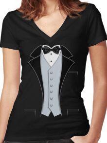 Tuxedo Classic Women's Fitted V-Neck T-Shirt