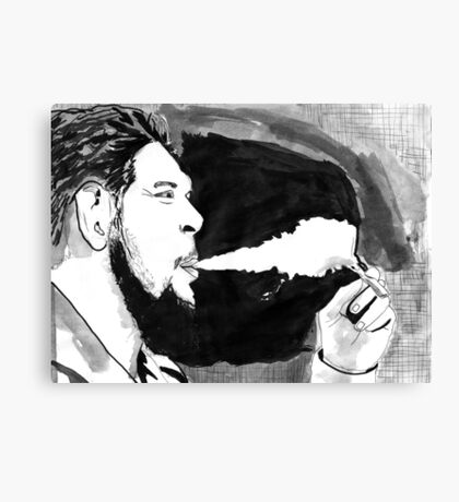Che Guevara Smoke Canvas Print