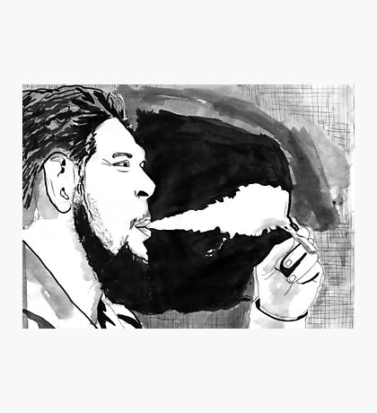 Che Guevara Smoke Photographic Print