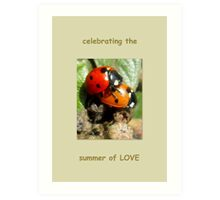 Celebrating the summer of LOVE Art Print