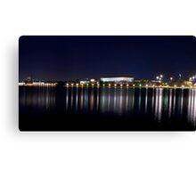 Capital By Night, Canberra Canvas Print