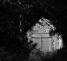 Storage Hut, Foyers Hydro plant area.  by Mbland