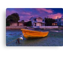 """Waiting For The Tide"" Canvas Print"