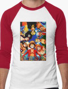 one piece Men's Baseball ¾ T-Shirt