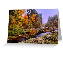Fall on the Calapooya River Greeting Card