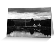 Cullochy Lock Keeper's house. Greeting Card