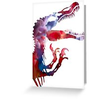 Funkospinosaurus Greeting Card