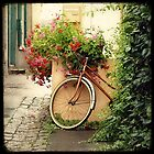 La bicyclette aux Géraniums by Marc Loret