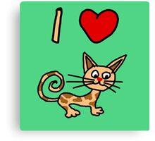 I LOVE CAT 2 Canvas Print