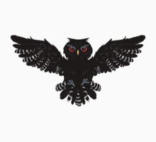 Black Owl 2 One Piece - Short Sleeve