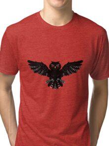 Black Owl 2 Tri-blend T-Shirt
