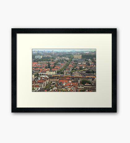 Delft rooftops Framed Print