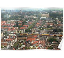 Delft rooftops Poster