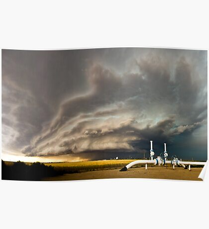 Supercell near Sharon Springs, Kansas Poster