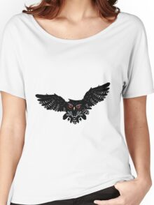 Black Owl 3 Women's Relaxed Fit T-Shirt