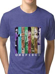 one piece luffy nami robin chopper sanji zoro usopp brook franky anime manga shirt Tri-blend T-Shirt