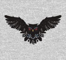 Black Owl 4 Baby Tee