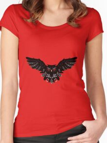 Black Owl 4 Women's Fitted Scoop T-Shirt