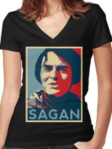 Carl Sagan Women's Fitted V-Neck T-Shirt