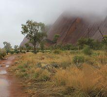 Rainfall at Uluru by Kymbo