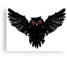 Black Owl 5 Canvas Print