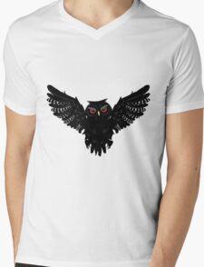 Black Owl 5 Mens V-Neck T-Shirt