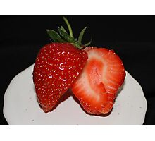 Sweet and Juicy Strawberry Photographic Print