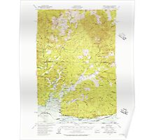 USGS Topo Map Washington Grays River 241407 1955 62500 Poster