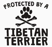Protected By A Tibetan Terrier Kids Clothes