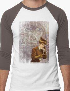 Steam Punk Lady Telephone Gears Men's Baseball ¾ T-Shirt