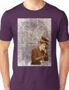 Steam Punk Lady Telephone Gears Unisex T-Shirt
